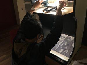 Kondisi ketika membaca koran digital